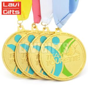 Venta caliente de aleación de zinc personalizado Victoria Glitter Medalla Premio creativo