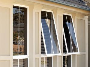 Fabricante de extrusión de aluminio recubierto de polvo de apertura hacia afuera de la ventana de Toldo