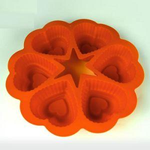 Grau alimentício molde de silicone 6 cavidades do molde de bolo de bandeja de muffin