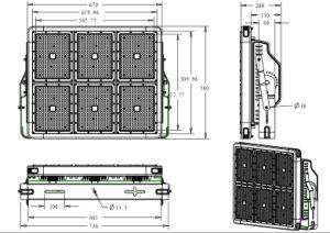 2018 LED de alta potencia corte luz Deportiva 1440 vatios, IP68 Proyector LED del módulo de 180W con 5 años de garantía