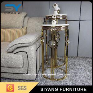 Boda de diseño moderno Pedestal titular de la Flor de Oro