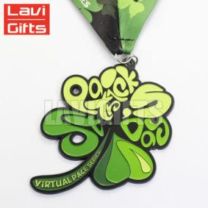 3D de OEM personalizadas de flores en relieve los logotipos de forma deporte medalla de metal en China