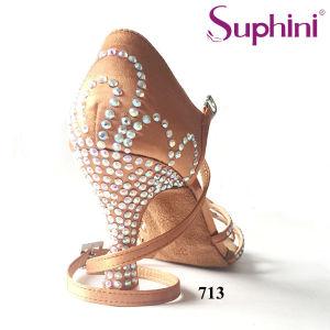 2017 Suphini Top venta de calzado de dama de América, clásico de Salsa Zapatos Mujer Zapatos de baile latino de cristal