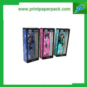 Venta personalizada de alta calidad de los niños a favor de juguete muñeca Barbie rígido Embalaje Embalaje de papel Caja de regalo con ventana de PVC