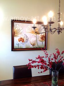 Arte Handmade della tela di canapa delle pitture a olio realistiche del fiore per la decorazione domestica