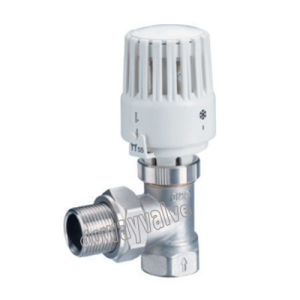 PE X Male Nickle Plated Forged Brass Thermostatic Radiator Valve