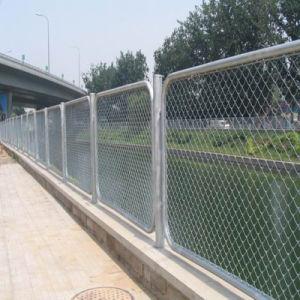 Kurbelgehäuse-Belüftung beschichtete Eisen galvanisierten Draht-Kettenlink-Zaun für Garten