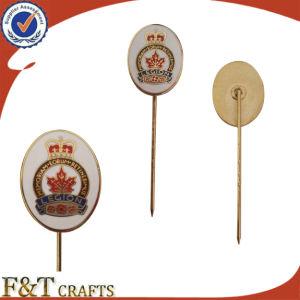 Sales熱いHigh Qualituy Plating Gold Lapel Pin Manufacturers中国かLapel PinまたはMetal Long Needle Lapel Pin