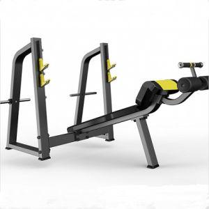 Comercial equipos de gimnasio Body building disminución el equipo de prensa de banco
