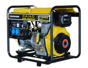 5KW melhor conjunto de gerador diesel vendidos 6500E Arranque eléctrico com estrutura aberta