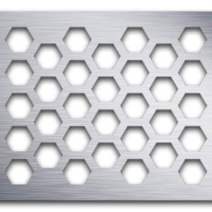 Plafond en métal prix d'usine dalle de plafond panneau perforé de toiture en aluminium