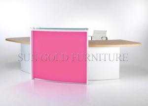 Moderner Aussehen-Finger-hoher Glanz-Schönheits-Salon-Empfang-Schreibtisch (SZ-RT048)