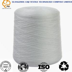 40s/2/3 de gesponnen Naaiende Draad van de Polyester in Geverfte & Ruwe Witte Kleuren