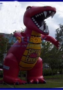 De rode ReuzeBevorderingen van de Ballon van de Reclame van de Dinosaurus Opblaasbare