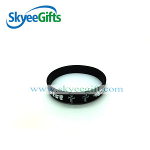Wristbands su ordinazione del silicone di stampa dell'elastico di stampa della novità