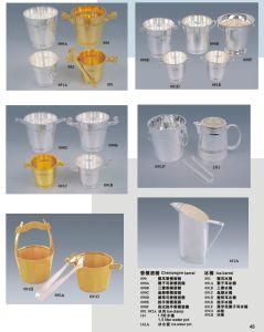 Deluxes Gold und Silver Plated Ice Bucket für Hotel Banquet