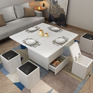 Sala de Estar móveis de madeira Extremidade dobrável mesa de café