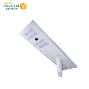 Bajo precio LED al aire libre todo en una calle la luz solar con la pole 120W