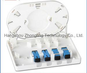 FTTH 2 o 4 Caja de terminales de fibra óptica