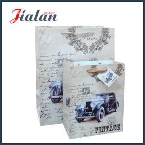 도매는 로고에 의하여 인쇄된 설명서 싼 서류상 선물 부대를 주문을 받아서 만든다