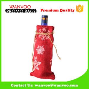 Vin de jute Bottle-Single promotionnel sac cadeau pour mariage
