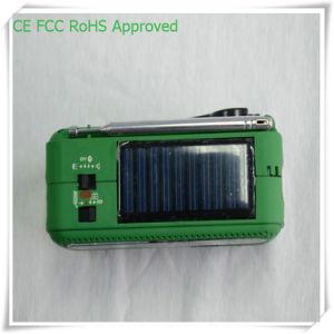 Batería de litio puerto USB 3 LED de radio de la energía solar