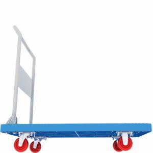 편리한 HDPE 수송을%s 플라스틱 플래트홈 손 손수레 트롤리