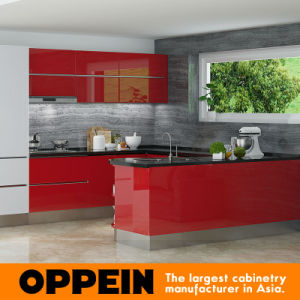 Keukenkast van de Lak van de Tentoonstelling van Tanzania de Moderne Rode Houten In het groot Modulaire