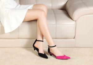 Nuevo desarrollado de tacón de moda zapatos de tacón plegable señoras