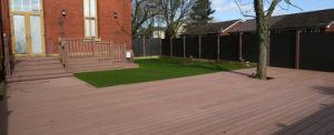 Estampación pesada revestimientos de suelos compuestos WPC Junta de bajo mantenimiento.
