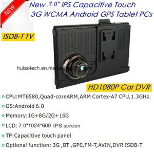 Handy des Soem-5.0inch IPS Bildschirm-3G mit Auto GPS-Navigation, 5.0mega FHD1080p Gedankenstrich-Kamera, hintere Parken-Kamera, Bluetooth, FM Übermittler, androider GPS-Nautiker,