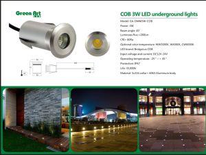 LED 3W COB Jardín de luz luz enterrada IP67 IK08