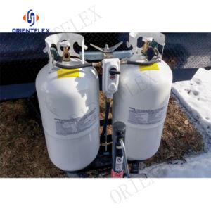 Regulador de gás propano e a mangueira