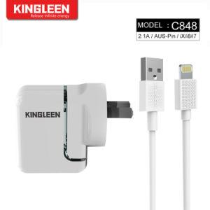 Модель C848 Двойной порт USB зарядное устройство для iPhone кабель