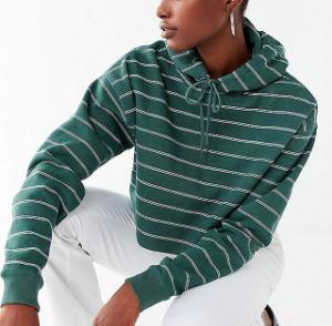 Venda Direta de fábrica verde blusa recortada agasalho