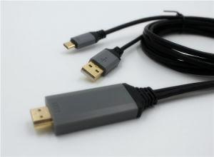 アンドロイドまたはSamsung/LGのためのHDMI 4KケーブルへのUSB CのタイプC