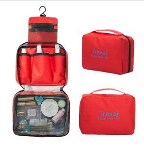 Gran capacidad de aseo de Viajes Personalizada bolsa con el colgador