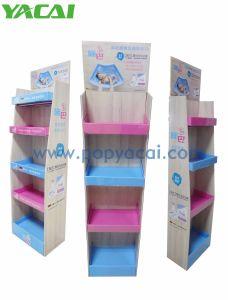Kundenspezifisches Qualitäts-Pappfußboden-Bildschirmanzeige-Regal in den Reihen