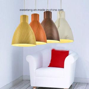 木製カラーの屋内照明シャンデリアのペンダント灯