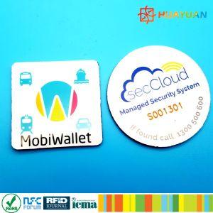 Cのプログラム可能な受動態PVC NFC NTAG 213反金属のスマートな札