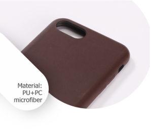 Populares Good-Looking Full-Cover marrón cuero pu caso móvil