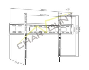 Vesa 600X400 조정 LCD 텔레비젼 마운트 (CT-PLB-E814A)