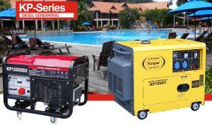 Kanpor 5.5kw 50Hz/6.0kw 60Hz Kp7500sta Serien-leise schalldichte Luft-kühler beweglicher Dieselgenerator, leiser Generator