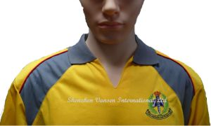 L'homme Cheap jaune promotionnel Polo T-shirt manches courtes Polyester