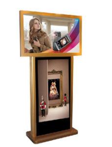 32 po- double écrans LED intérieure de l'écran numérique LCD du panneau de la publicité commerciale d'affichage vidéo