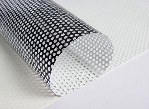 一方通行の視野PVC自己接着網のビニールのガラスステッカーのEco支払能力があるデジタルの印刷材料媒体
