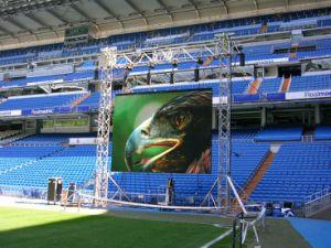 P6.25mm stade haute résolution écran LED, location de plein air plein écran LED de couleur