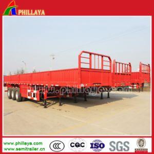 40-50tons 측벽 평상형 트레일러 반 3axles 분리가능한 부피 화물 트럭 트레일러