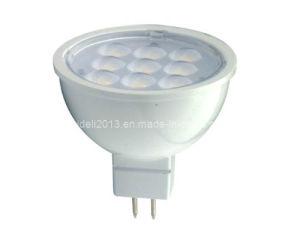 C.C. morna de alumínio MR16 9 do branco 2800K 4000K 12V lâmpada do bulbo do projector do teto de 2835 SMD