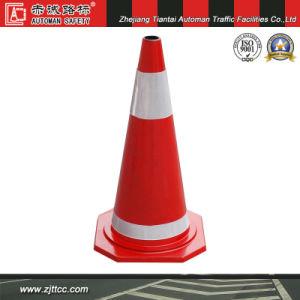 70cm industriels en caoutchouc souple réfléchissant la sécurité du trafic cône (CC-A11)